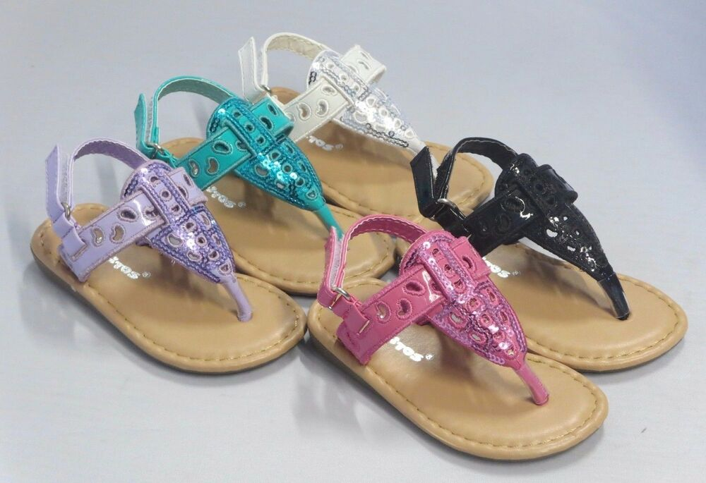 Girl Thong Sandals Sequins Sez Toddler Dress Shoes