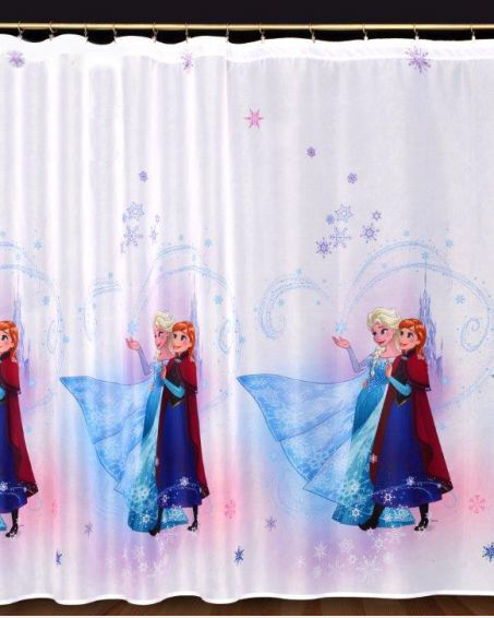 Voile ready made children net curtain frozen two for Kids curtain company