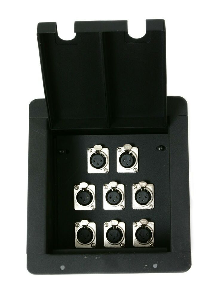 Elite core recessed audio pocket stage floor box w 8 for Xlr floor box