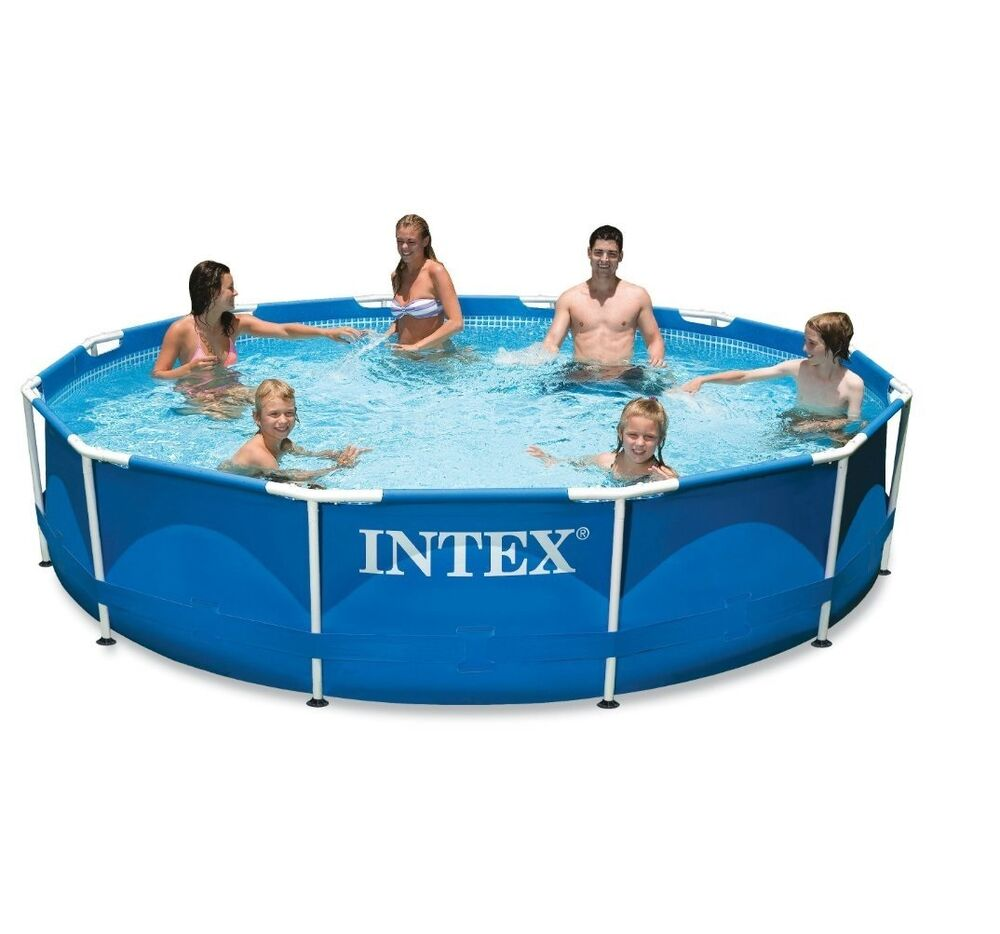 Intex 12ft x 30in metal frame pool set ebay for Piscina 5 x 10