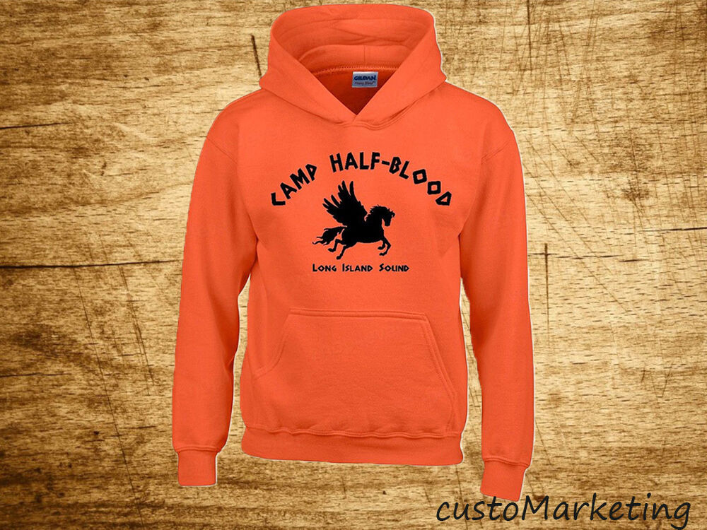 Camp half blood hoodie demi god long island sound hooded sweatshirt