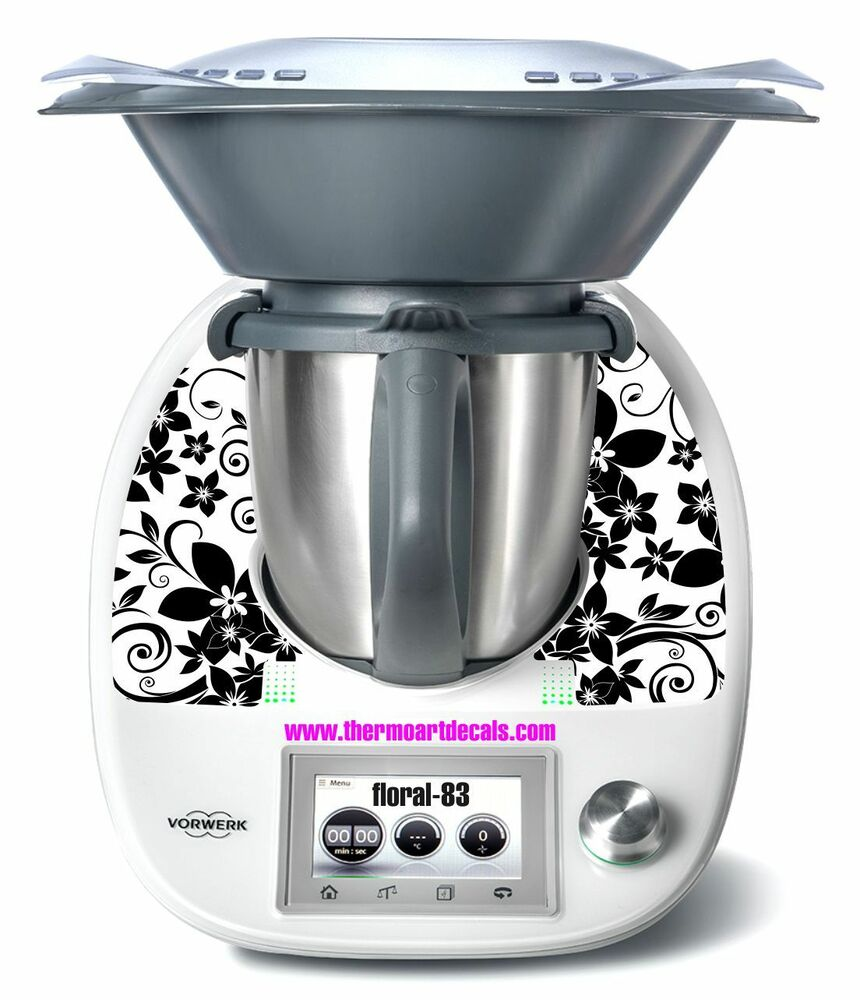 thermomix tm5 sticker decal code floral 83 ebay. Black Bedroom Furniture Sets. Home Design Ideas