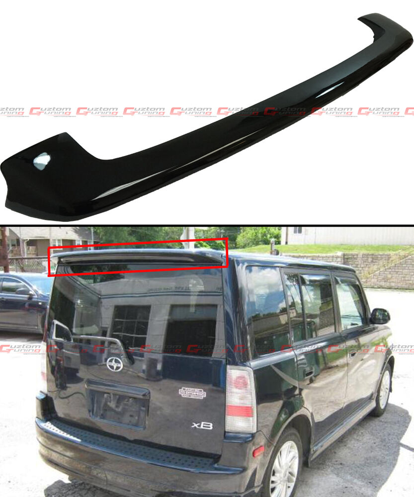 Scion Xb Accessories >> FOR 2004-2006 SCION XB GLOSSY BLACK JDM FACTORY STYLE REAR ROOF SPOILER WING | eBay