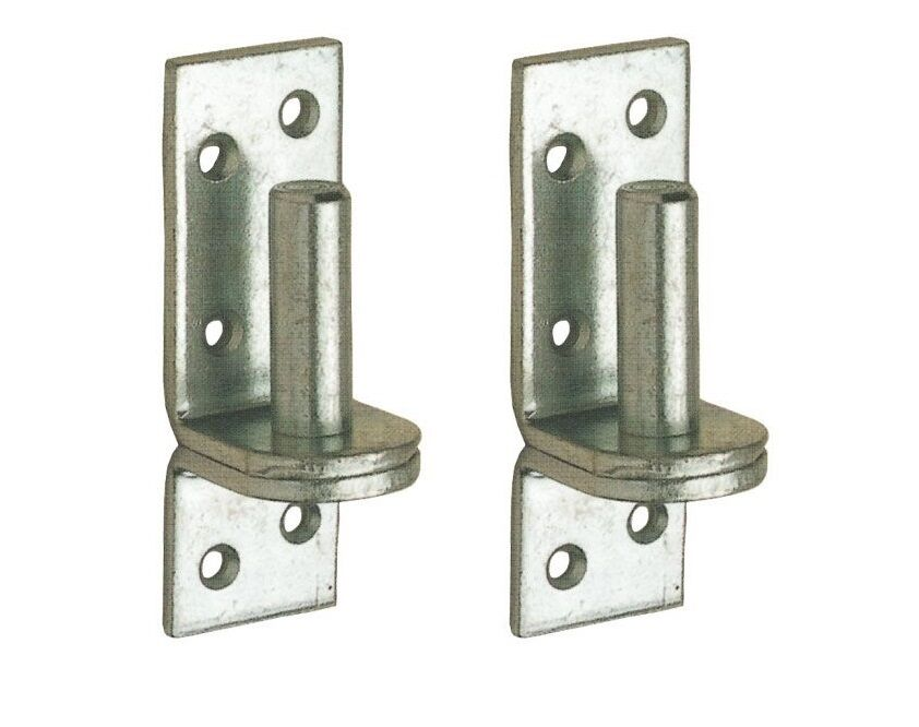 Pair Of 16mm 5 8 Quot Hook On Plate Gate Hinge Pin Band Silver