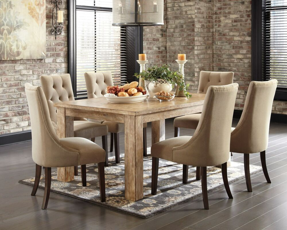 Ashley 034Mestler034 7 Piece Set Dining Table Set Furniture