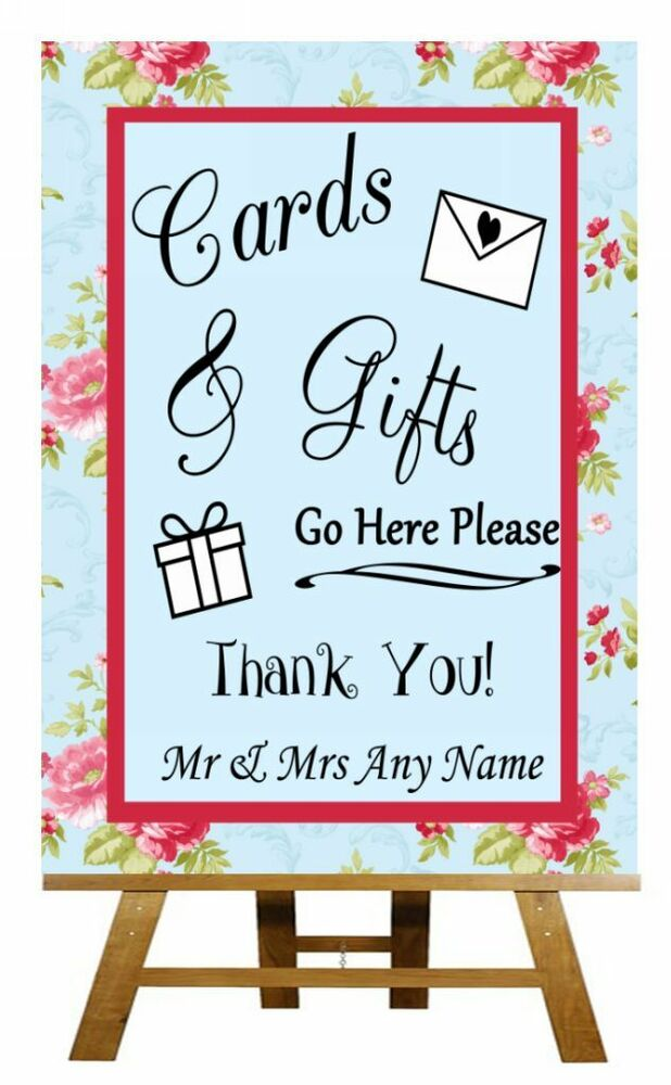 Personalised Wedding Table Gifts : ... Flora Cards & Gifts Table Personalised Wedding Sign / Poster eBay
