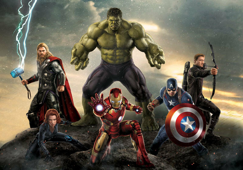 Avengers 2 age of ultron marvel full wall mural photo for Avengers mural poster