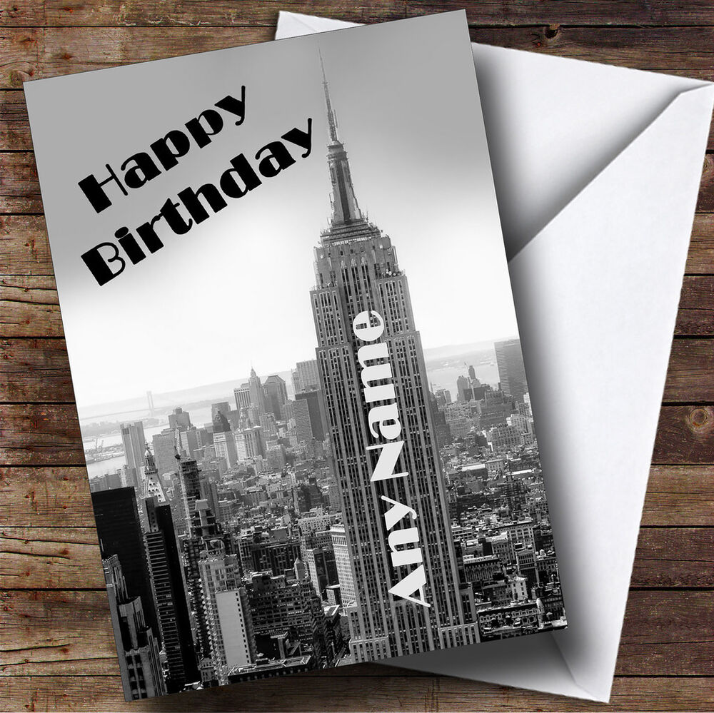 New York Empire State Building Personalised Birthday