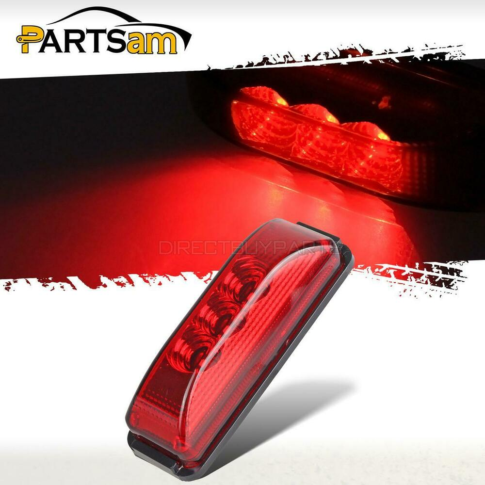 3 9 Quot Red Led Clearance Side Marker Lights Utility Trailer