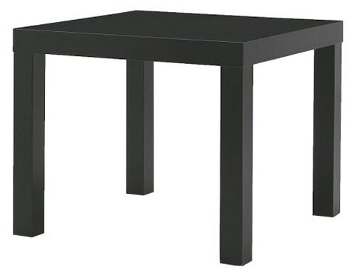 Small Square Accent Table: Black Small Side End Coffee Table Square Shape Home Office