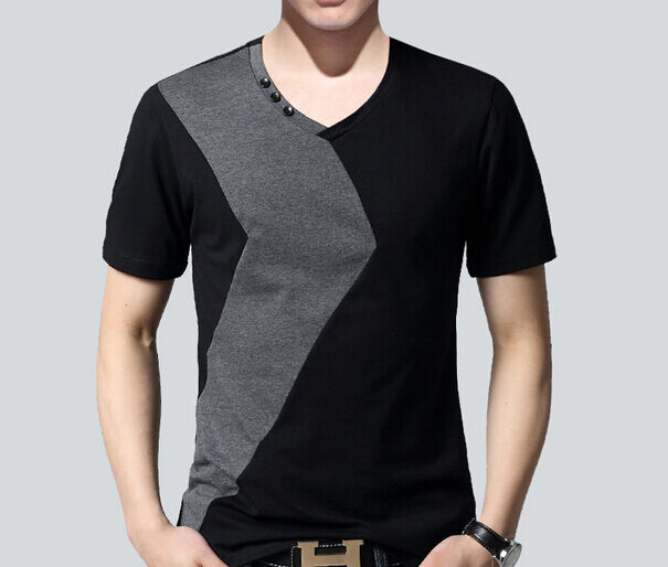 Mens shirts luxury casual slim fit stylish short sleeve t for Luxury mens t shirts