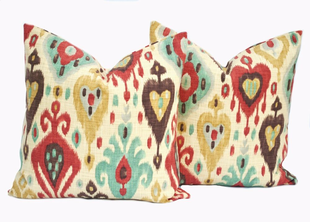 Decorative Pillow Wraps : 2 Richloom Ikat Django pillow covers, throw pillow, decorative pillow, cushion eBay