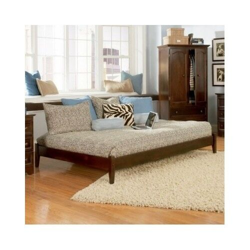 Bed daybeds day sleeper queen size frame platform bedroom for Queen size daybed frame