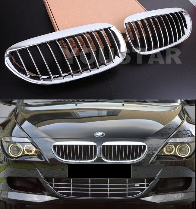 FAST EMS X2 Bright CHROME M6 Performance Grills For BMW 6