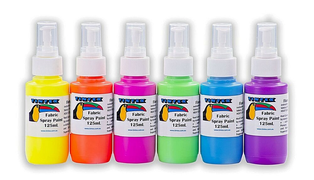 tintex fabric spray paint packs 3x125ml and 6x125ml ebay. Black Bedroom Furniture Sets. Home Design Ideas