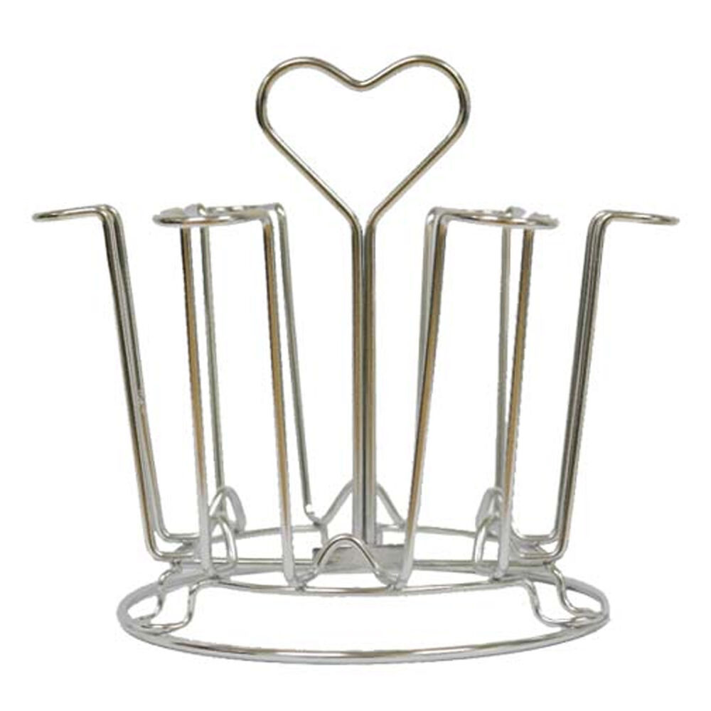 Stainless steel Heart Cup Hanger Kitchen Organizer Drying ...