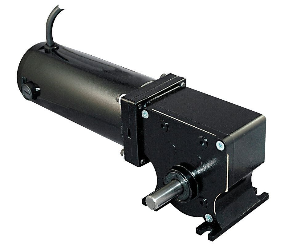 Dayton 12 Volt Dc Right Angle Gear Motor 1 8 Hp 36 Rpm