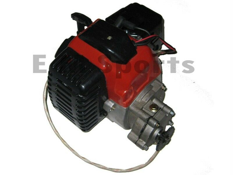 2 stroke super mini pocket bike engine motor 49cc parts w for How to make an electric bike with a starter motor