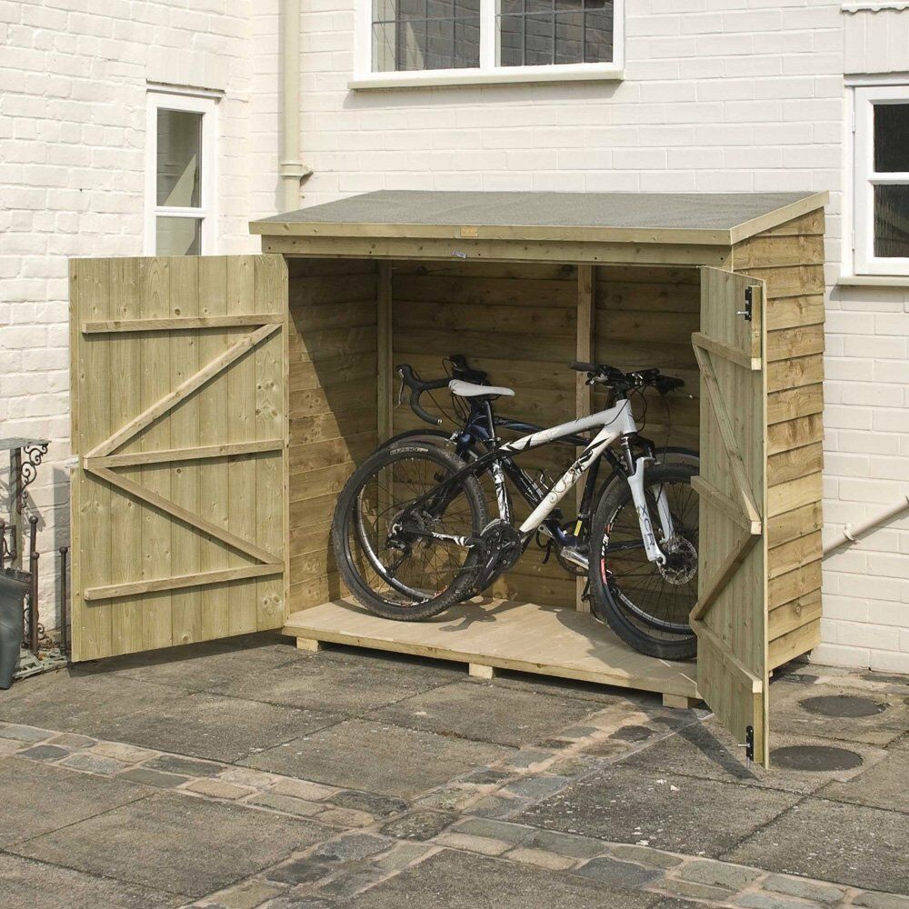 Wooden bike shed ideal secure bike storage for your Outdoor bicycle