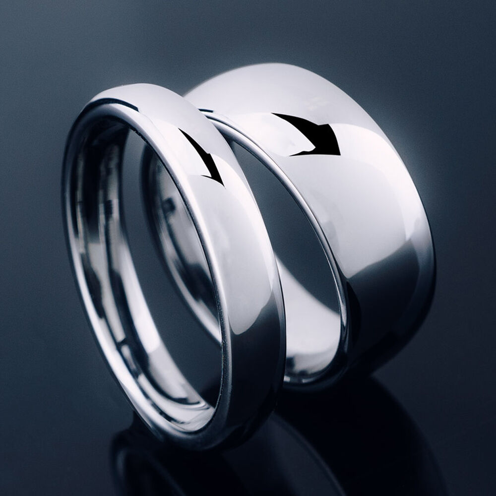 womens tungsten wedding rings tungsten carbide silver polished wedding band men womens 1468