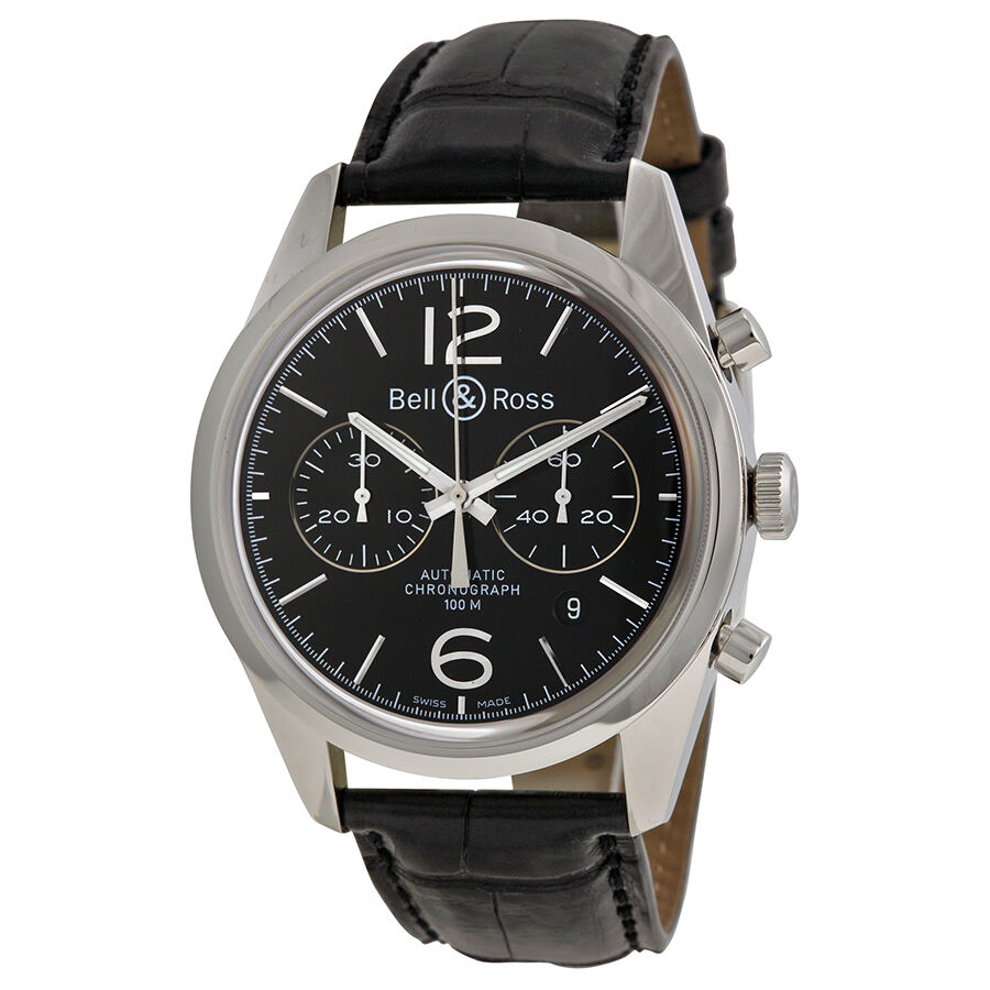 bell and ross mens vintage officer automatic swiss made. Black Bedroom Furniture Sets. Home Design Ideas