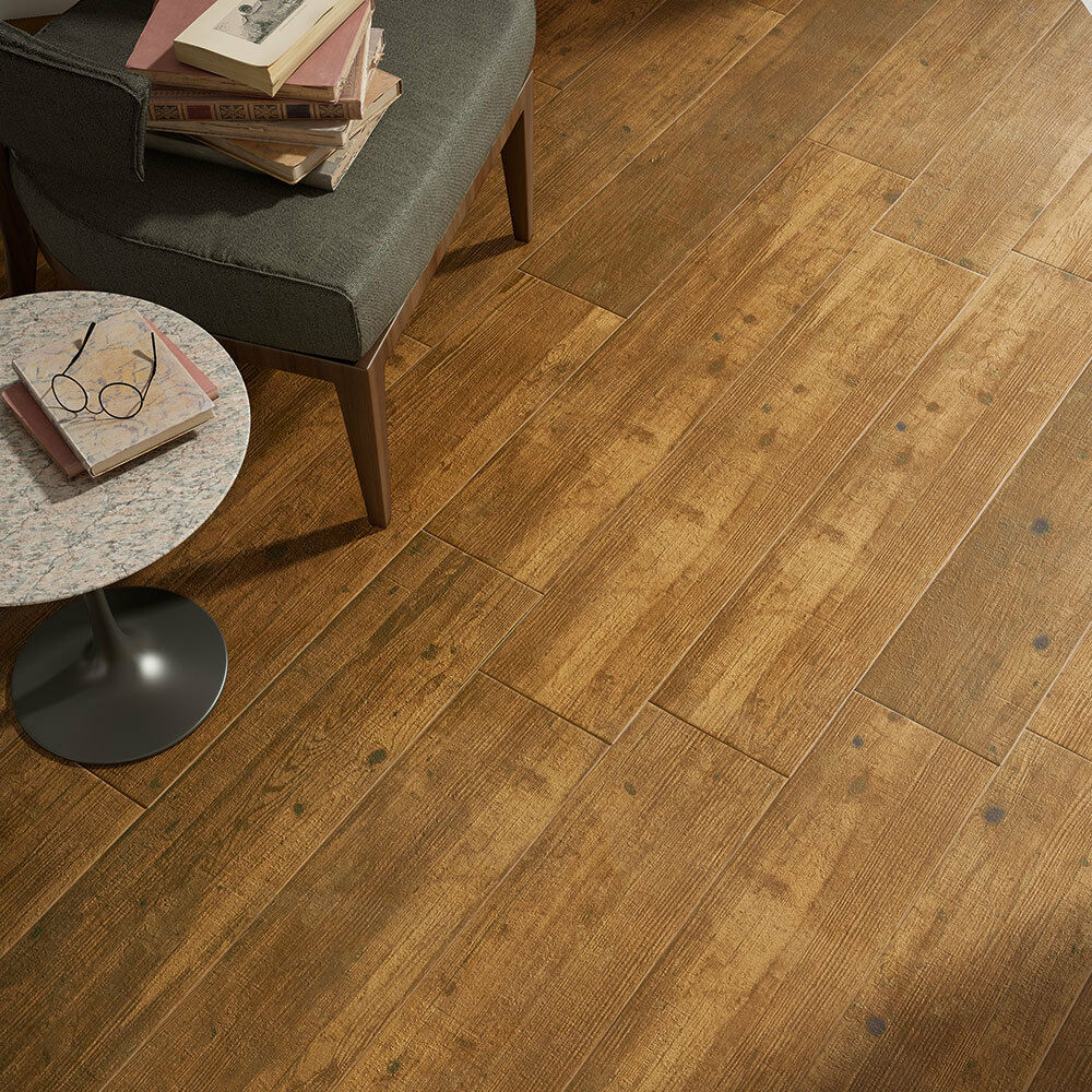 Time For An Update In Your Home These Oak Wood Plank Tiles Will Bring A Stylish New Look Into Any Room Throughout The House With Their Mid Brown Tone And