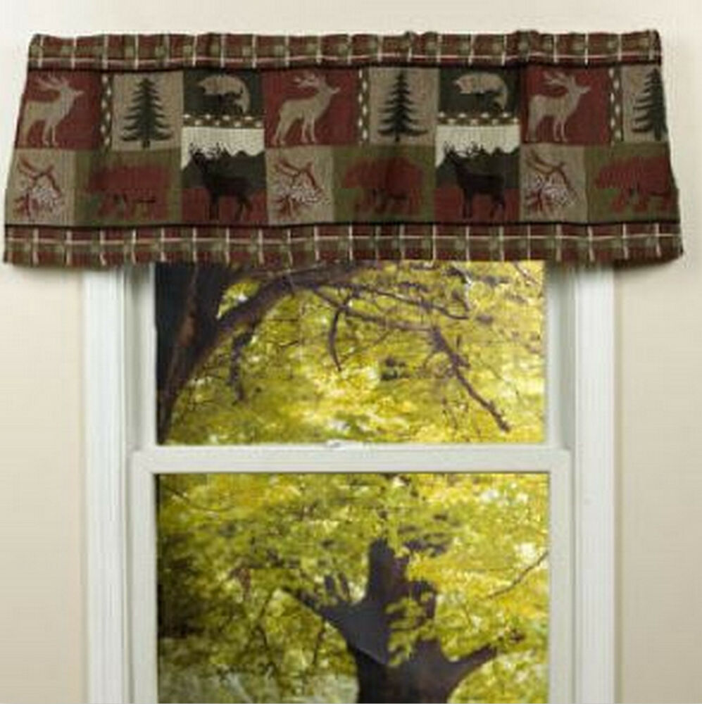 Pine Creek Lodge Tapestry Window Valance Modern Rustic