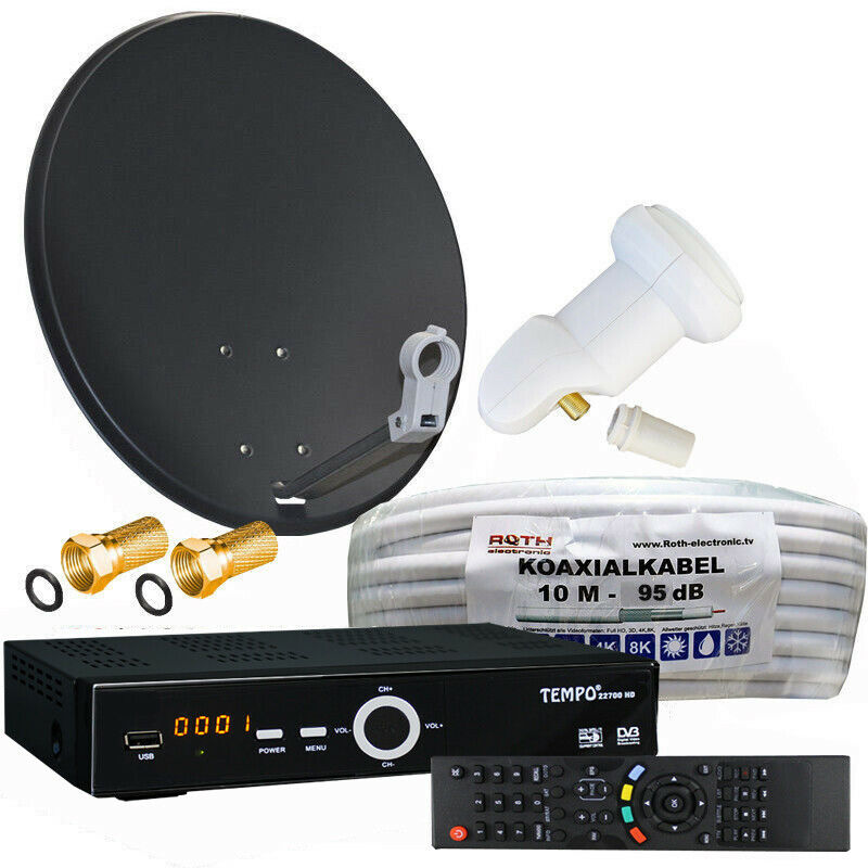 digitale sat anlage 60 cm spiegel sat receiver 10m. Black Bedroom Furniture Sets. Home Design Ideas