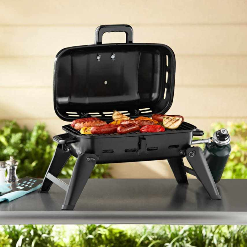 Portable Gas Grill Tabletop Propane Barbecue Burner ...