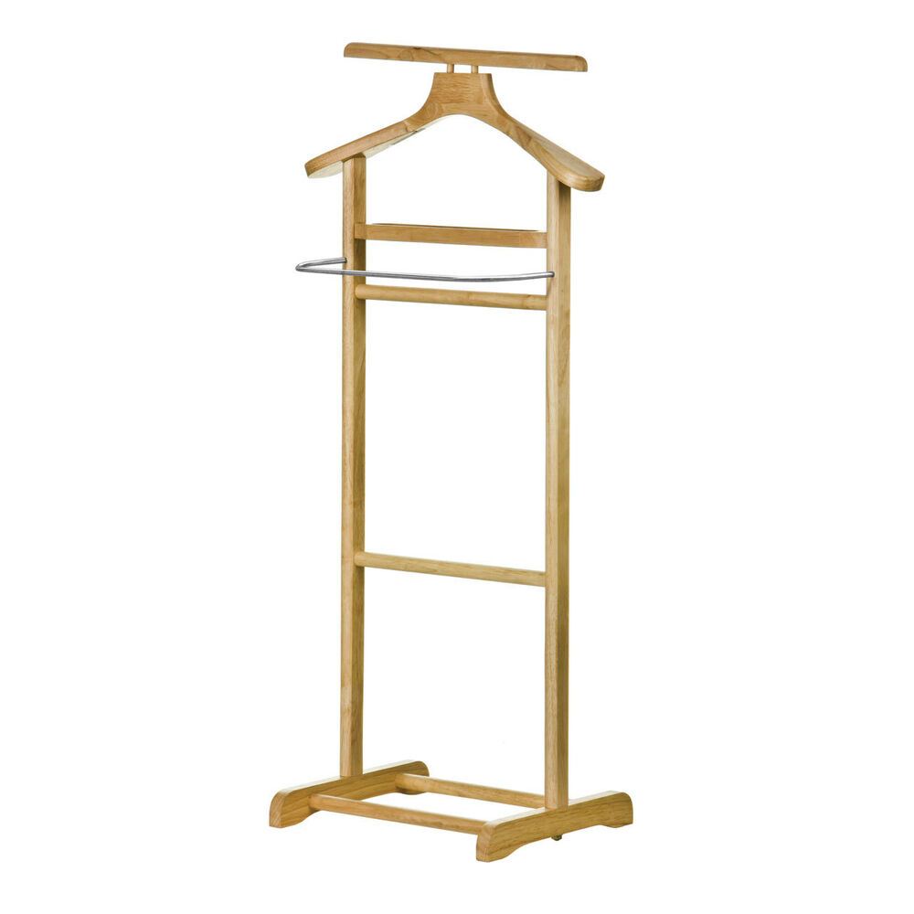 amazing new style wooden clothes valet butler stand rail