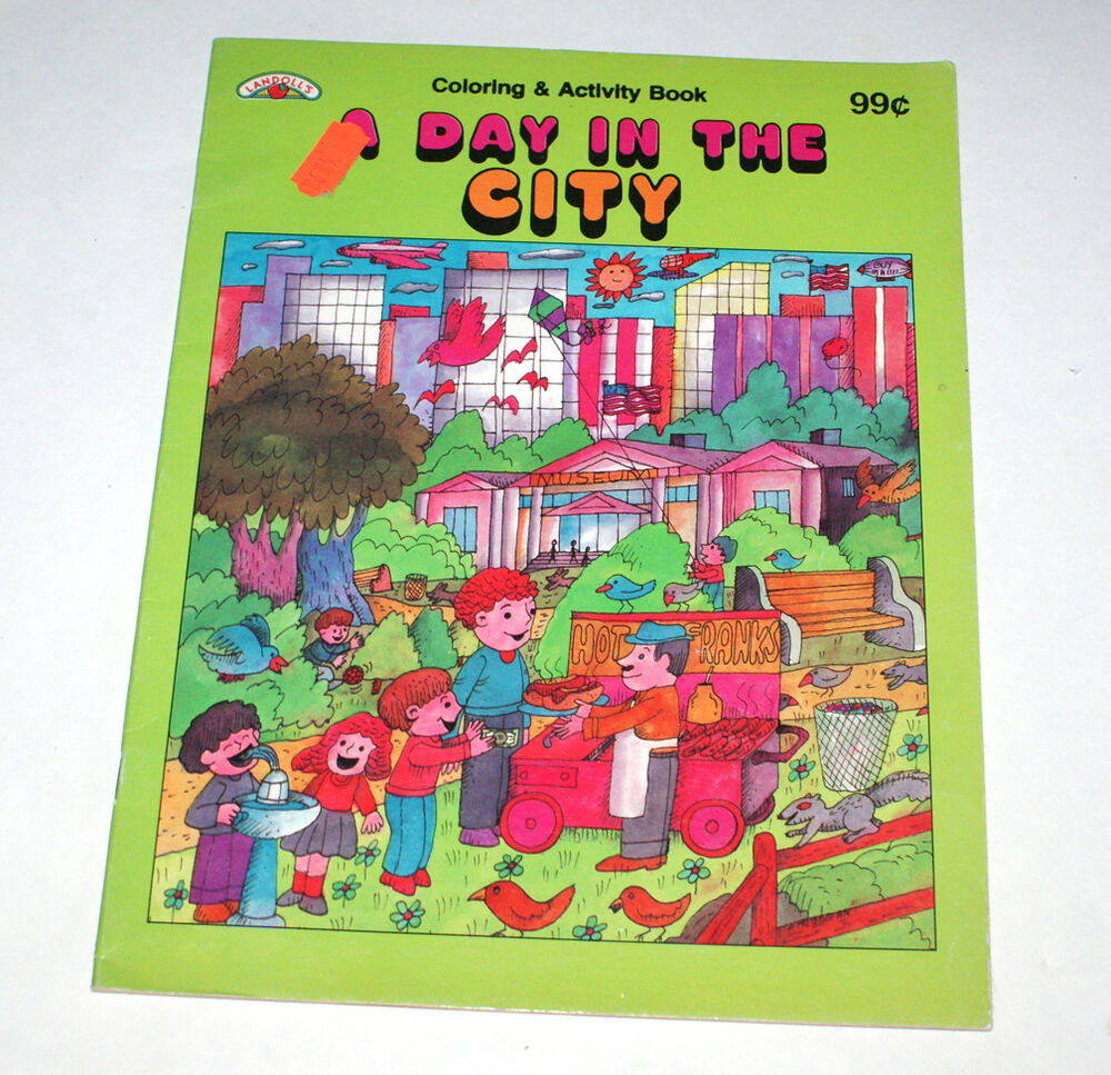 Landolls A Day In The City Coloring Amp Activity Book