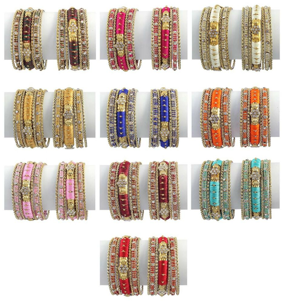 Indian Bollywood Costume Wedding Wear Style Bangles Bracelet Set Fashion Jewelry Ebay