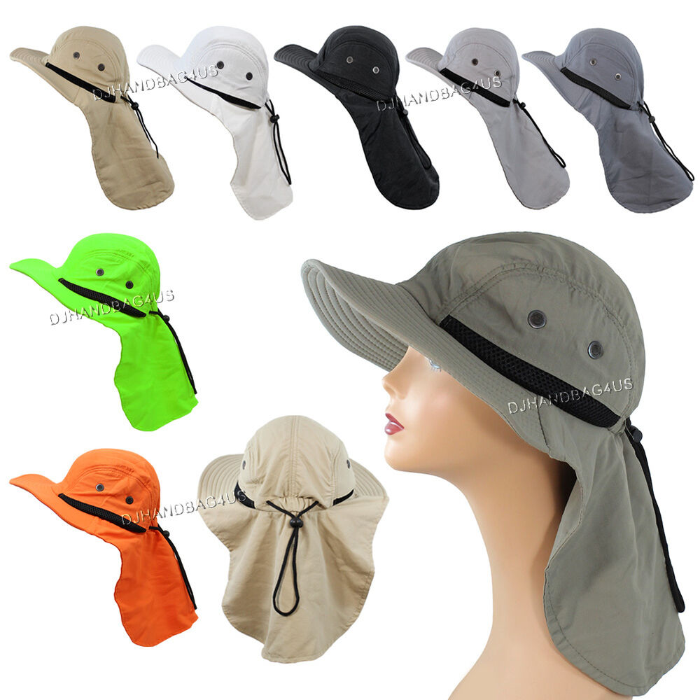 Boonie fishing hiking outdoor brim neck cover bucket sun for Fishing neck cover
