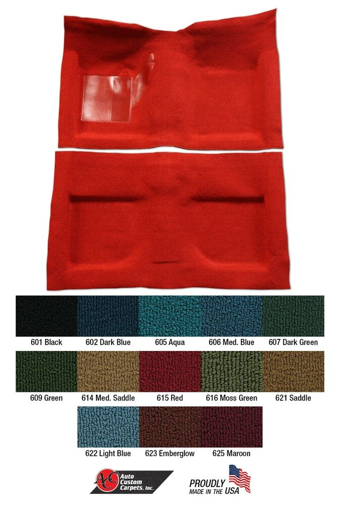 Mustang carpet molded 2 piece with toe pad 100 nylon 1965 for 1967 ford mustang floor mats
