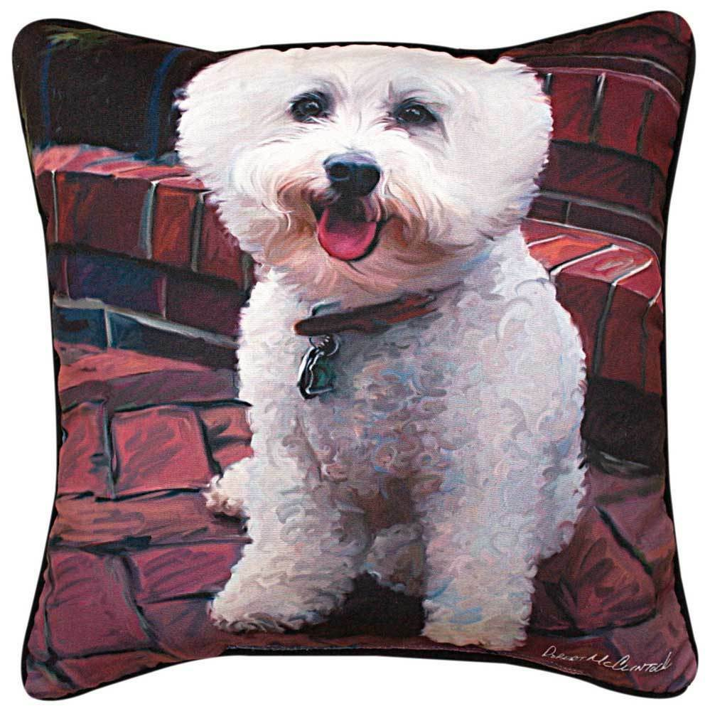Red Dog Throw Pillows : Bichon Frise Artistic Throw Pillow 18X18? eBay