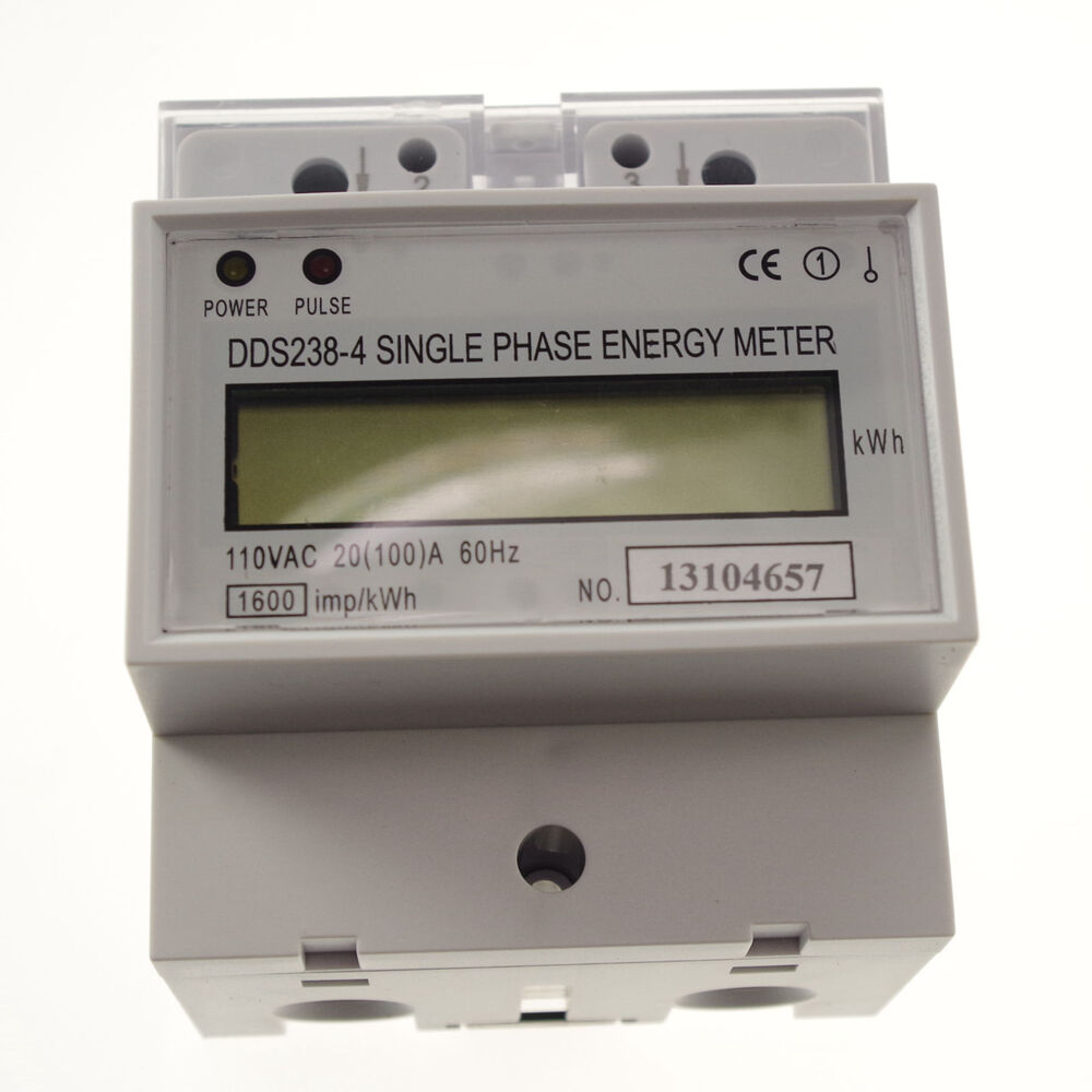 Kilowatt Usage Meter : A v hz single phase din rail type kilowatt hour