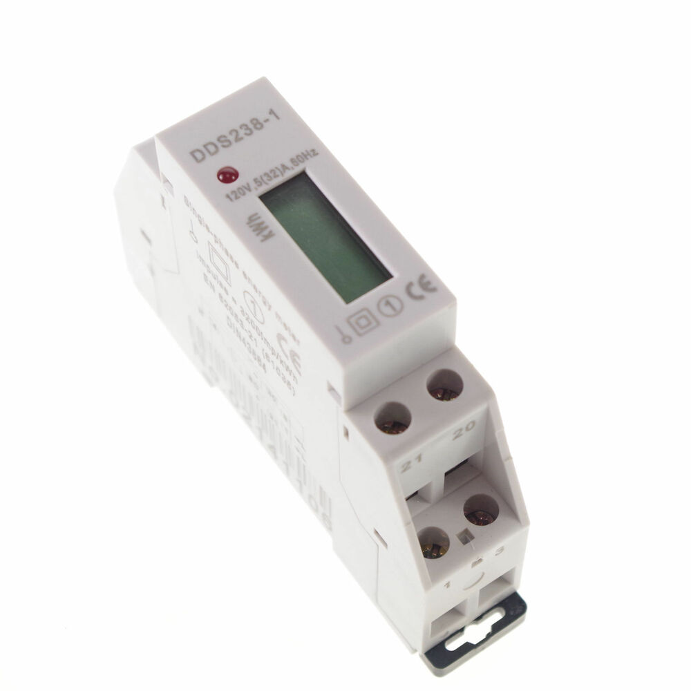 Kilowatt Hour Meter : A vac single phase din rail kilowatt hour kwh meter
