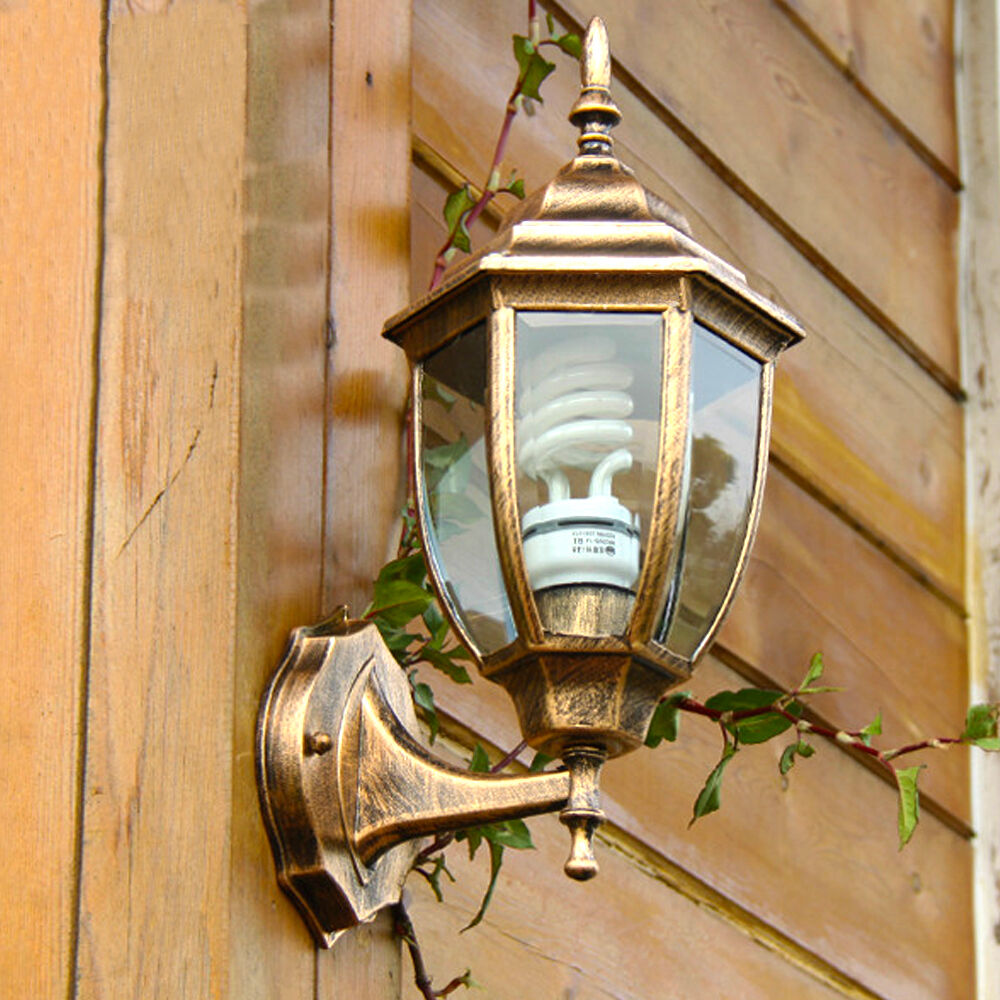 Retro Wall Lamp Home Outside Glass Diy Lighting Lantern