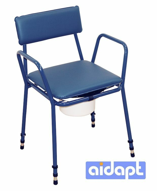 Aidapt Height Adjustable Commode Chair Incontinence Toilet