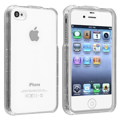 iphone 4s 4g new transparent clear snap on cover for 10899