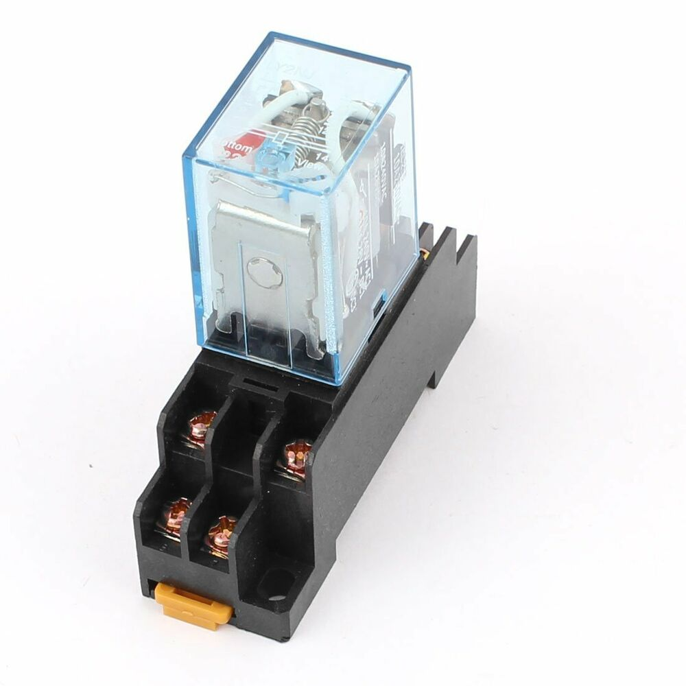 Ac 110v Coil Power Relay 10a Dpdt Ly2nj With Ptf08a Socket