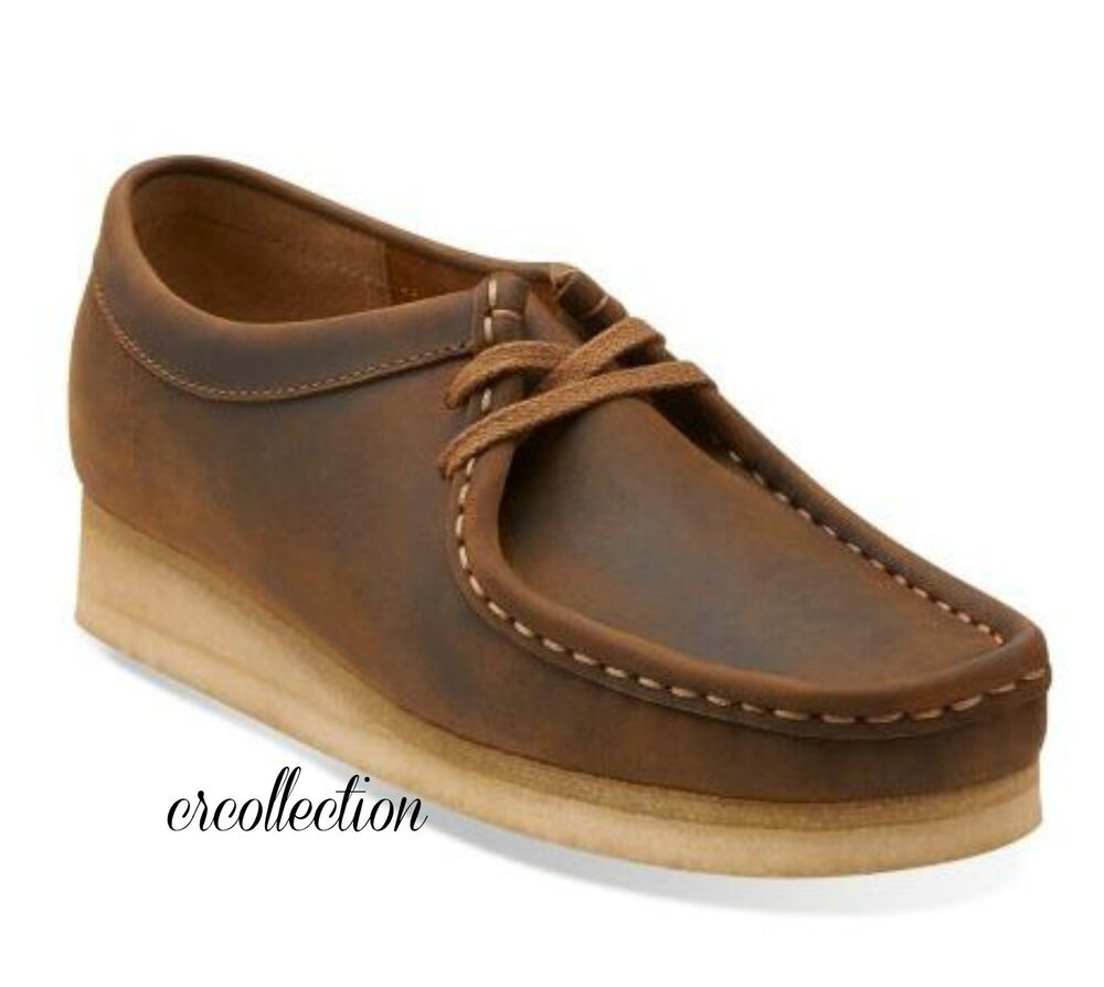 clarks originals womens wallabee beeswax leather casual