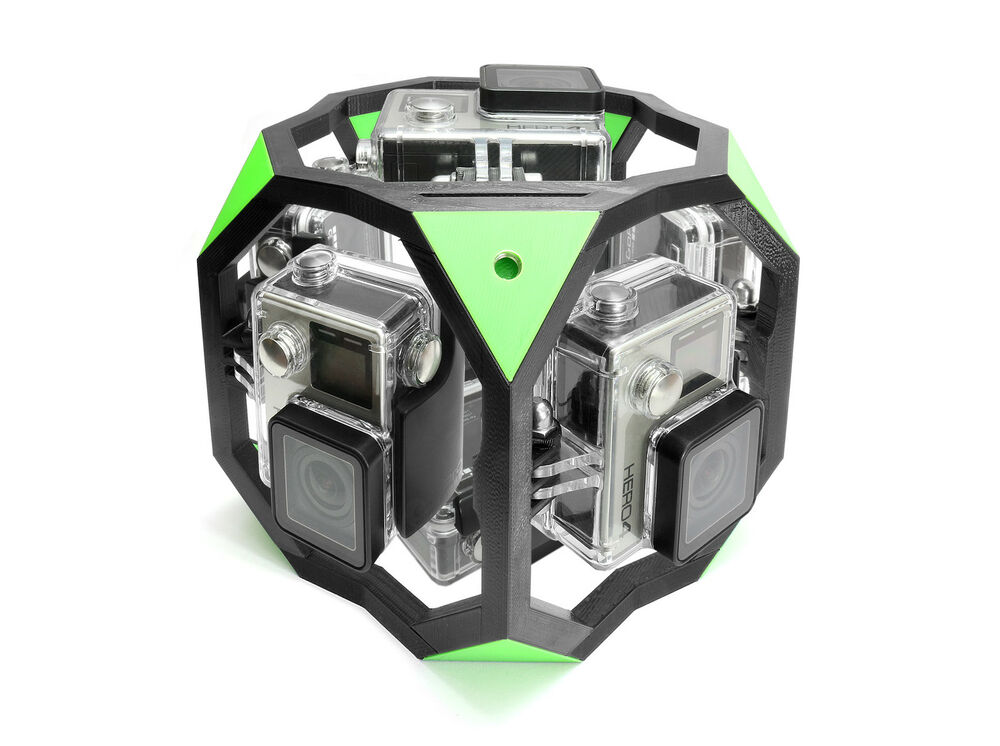 360 degree spherical panorama mount f 7x gopro go pro. Black Bedroom Furniture Sets. Home Design Ideas