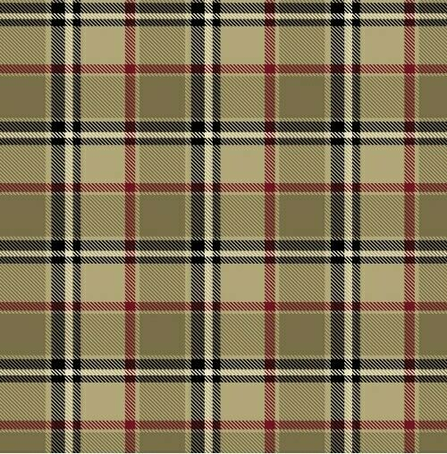 London Plaid Camel Fleece Fabric Print by the Yard A239.01 ...