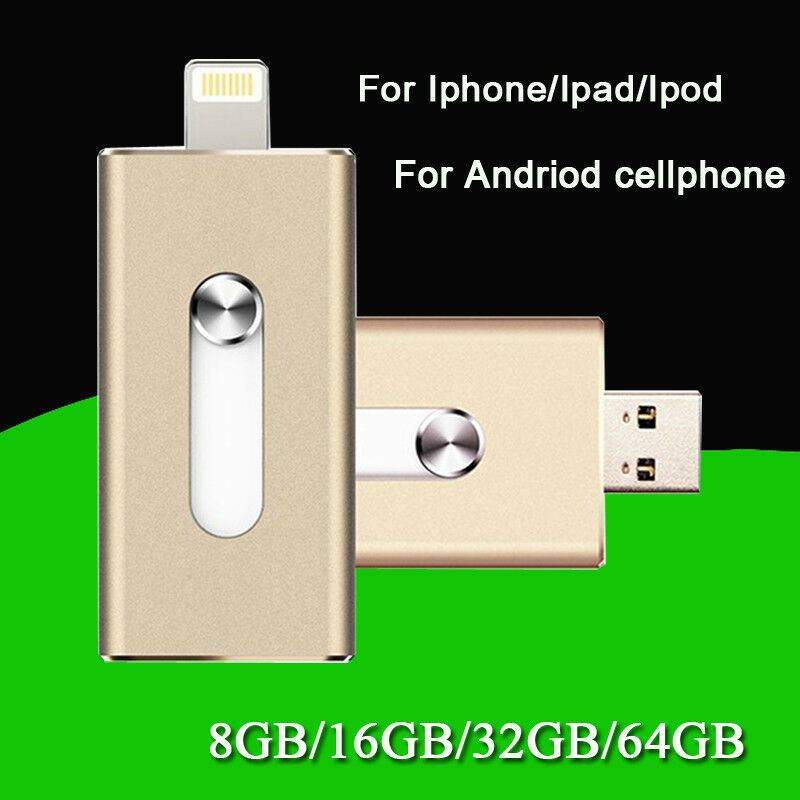 i flash drive storage for iphone ipad ipod ios 8pin usb. Black Bedroom Furniture Sets. Home Design Ideas