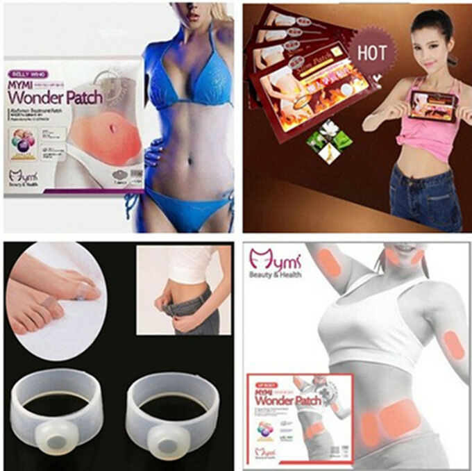 Fast Loss Weight Burn Fat Silicon Toe Ring Slim Patches Belly Wing ...