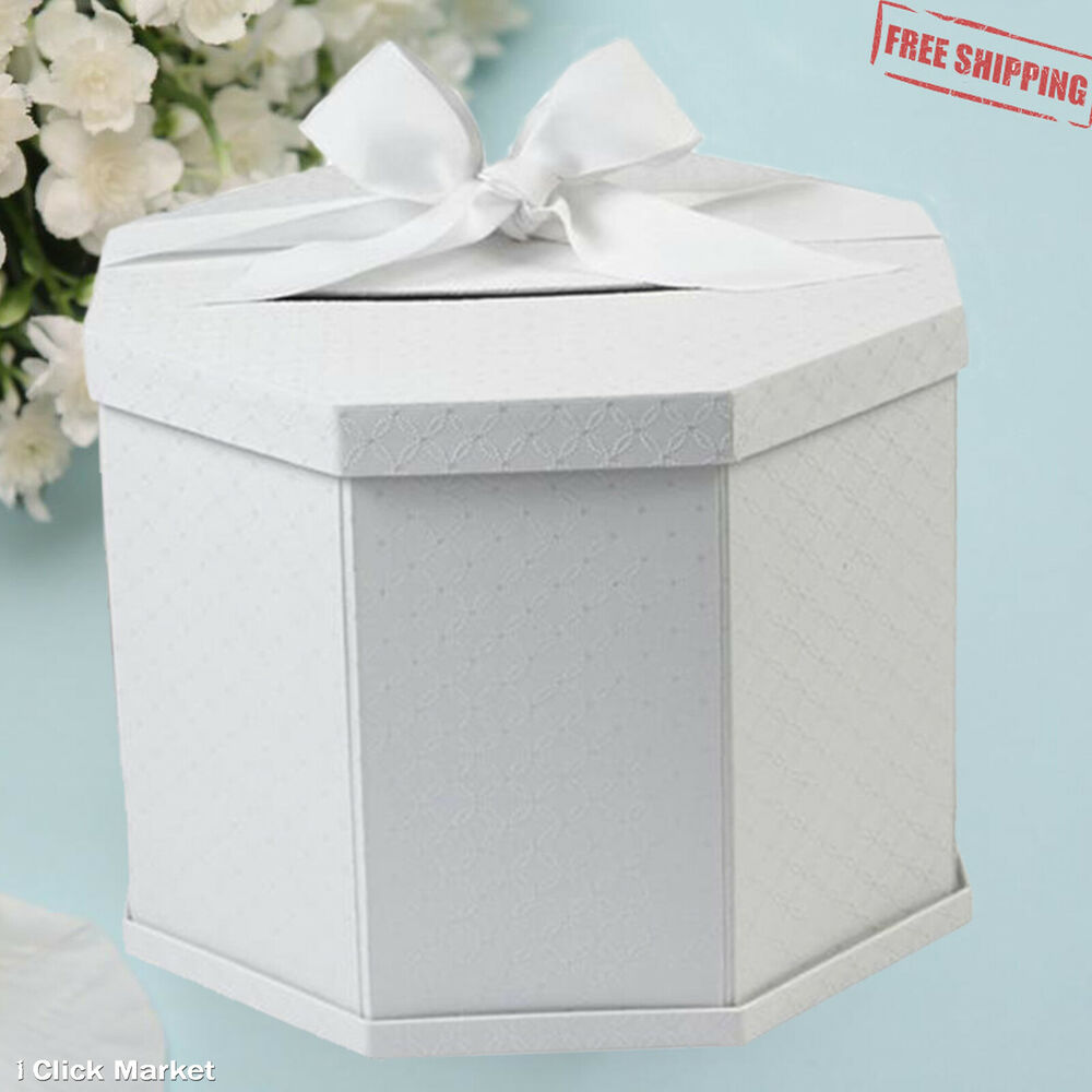 Gift Boxes For Weddings: Wedding Gift Card Box Elegant Reception Envelope Holder
