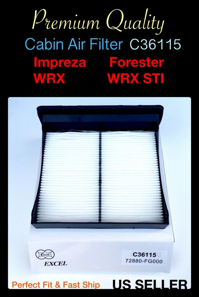 For forester wrx impreza wrx sti 2009 2016 oem quality for Cabin air filter subaru forester