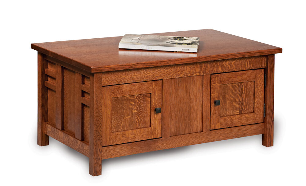 Amish mission rustic coffee table occasional solid wood