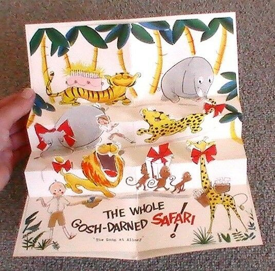 Pleasing Vintage 1955 Norcross Foldout Pop Up Popup Birthday Card In Funny Birthday Cards Online Fluifree Goldxyz